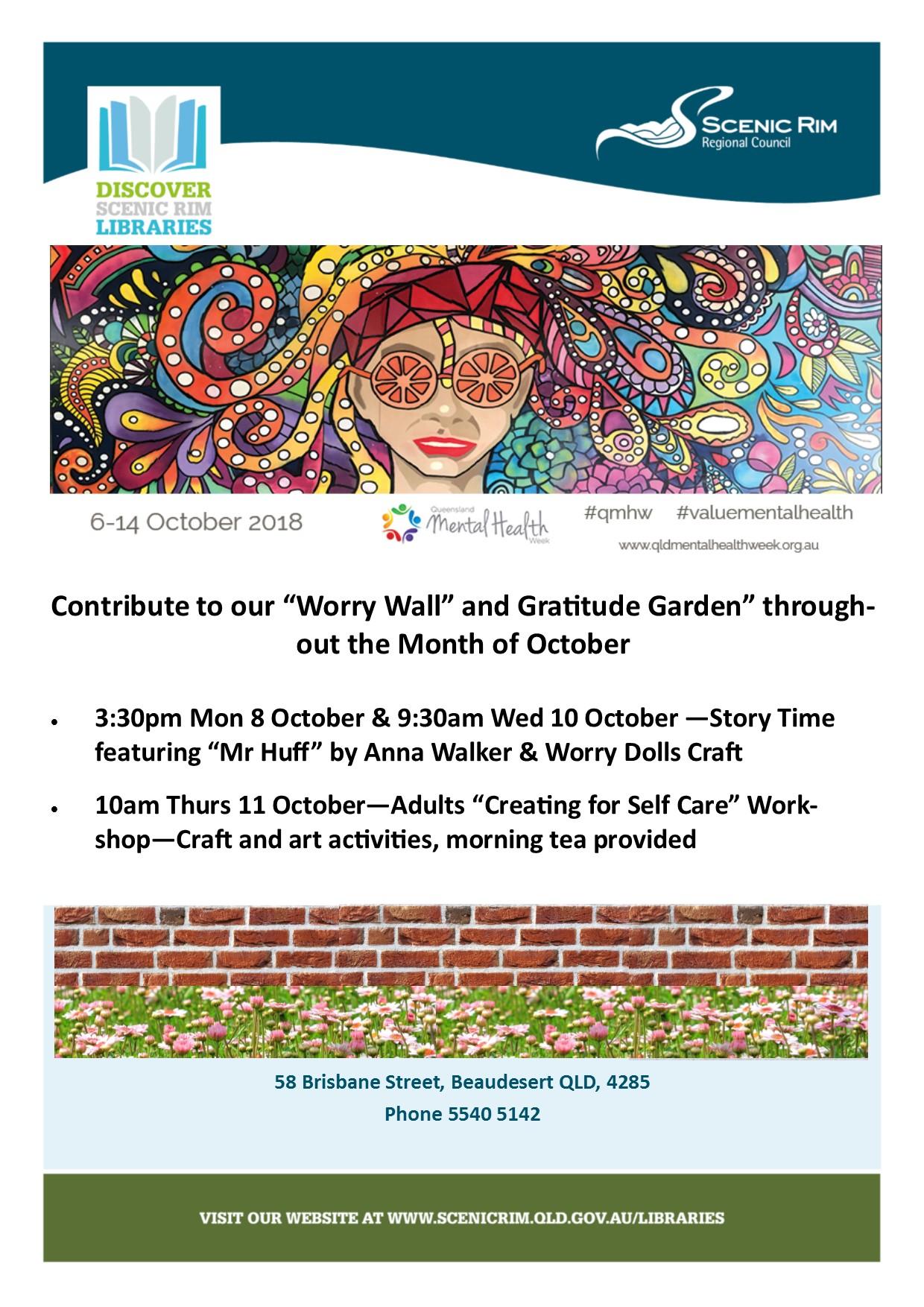 Mental Health Week 2018 Poster 2